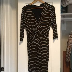 Black and Tan striped dress